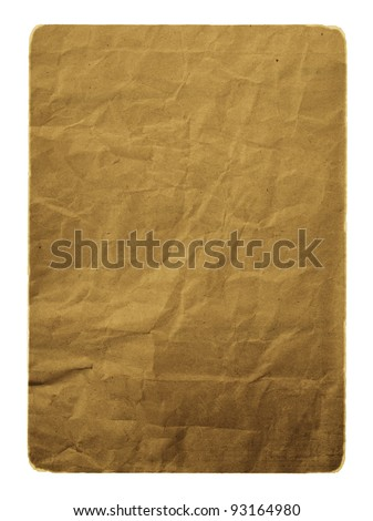 Grunge ancient used paper in scrap booking style - stock photo