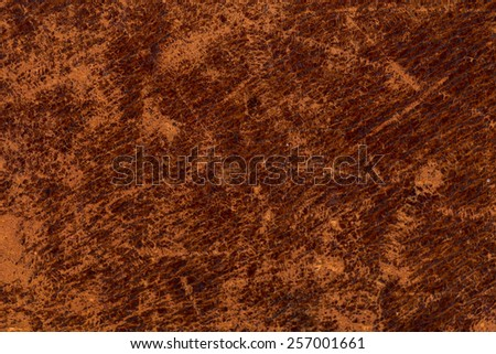 Grunge and old leather texture with dark edges - stock photo