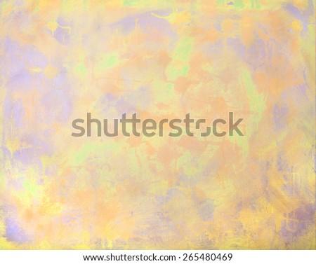 Grunge Artwork Background on Canvas, Blue,Orange, Yellow - stock photo