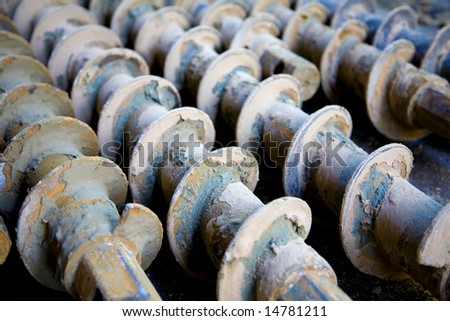 grunge Augers - stock photo