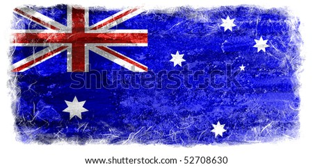 Grunge Australia flag - stock photo