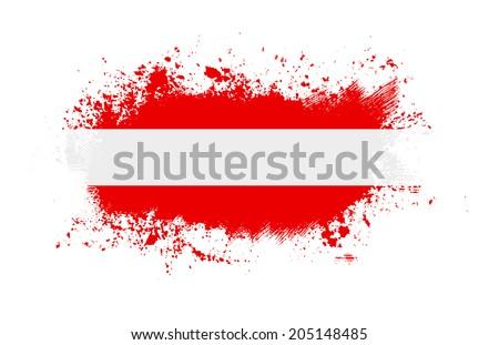Grunge austrian  ink splattered flag  - stock photo