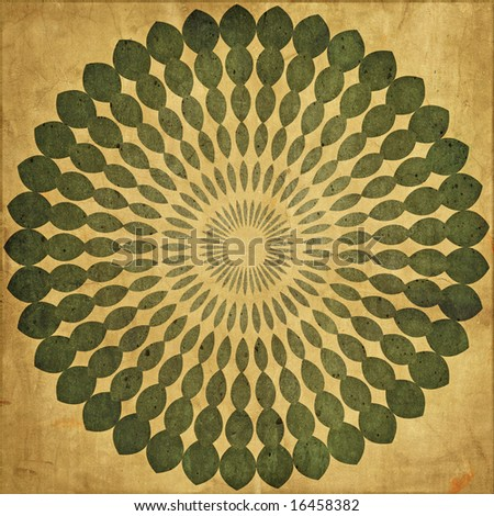 Gold Color Textured Pattern Distorted Glass Stock Photo