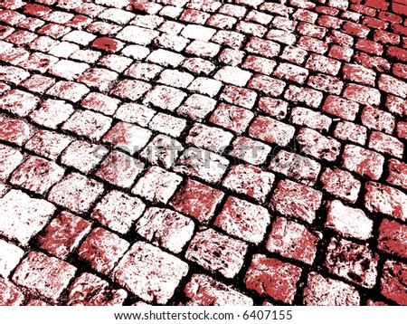 Grunge Background -black, white and red - stock photo