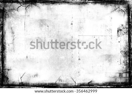 Grunge background. Grunge frame. Grunge border - stock photo