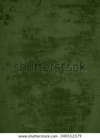 Grunge background of dark green concrete wall with scratches - stock photo