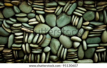 Grunge background of old stone wall texture. - stock photo