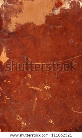 Grunge background, old brown vintage worn and damaged torn  retro hard book cover - stock photo