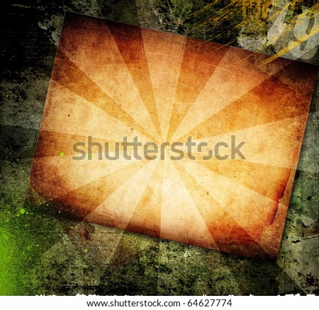 Grunge background, old paper - stock photo