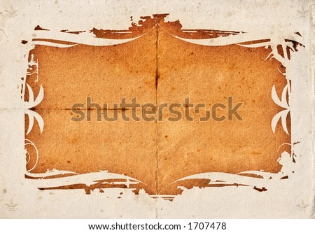Grunge background on a detailed texture 03. Vector version: file no. 730296.