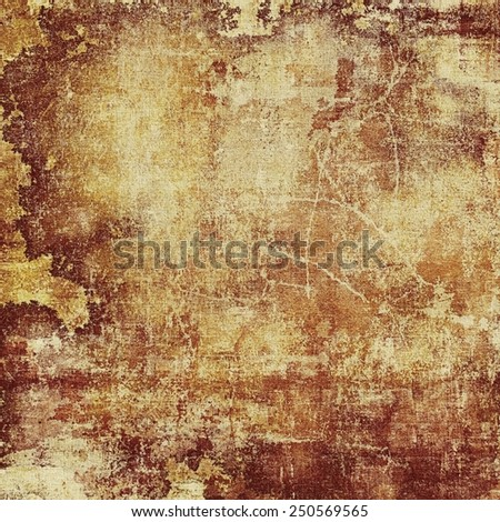 Grunge background or texture for your design. With different color patterns: yellow (beige); brown; gray - stock photo