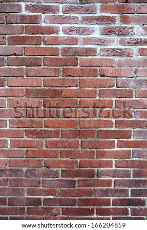 grunge background, red brick wall texture. Urban background - stock photo
