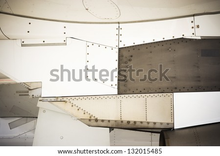 grunge background riveted metal industrial construction frame - stock photo