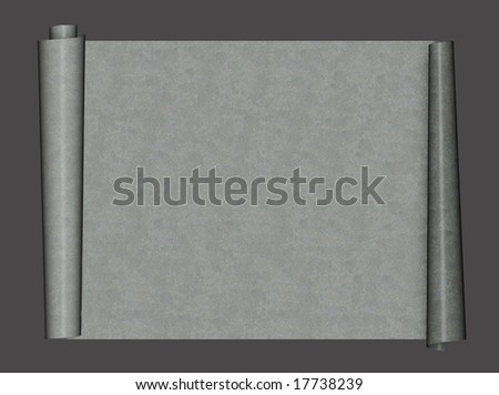 Grunge background - scroll from sheet metal - stock photo
