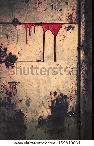 Grunge background streaks of dried blood vertical