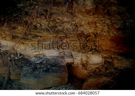 Grunge Background Texture Brown Clay Yellow Dirty Black And Dark Stone Textured Wall Mine Rock Wallpaper