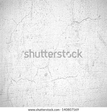 grunge background, white wall texture - stock photo