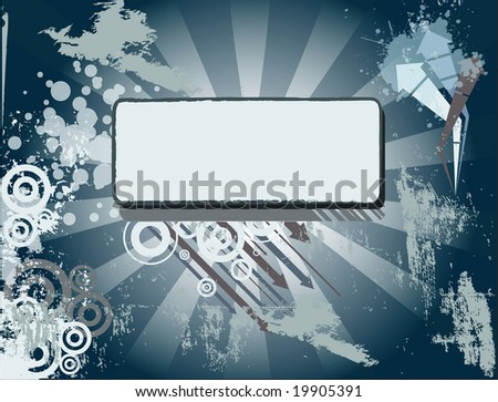 Grunge background with banner - stock photo