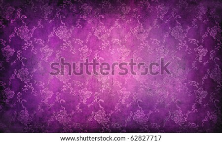 grunge background with classical pattern - stock photo