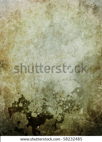 Grunge background with cracks and scratches - stock photo