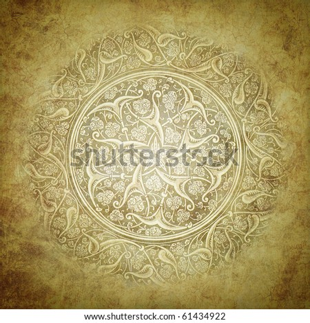 grunge background with decorative ornaments