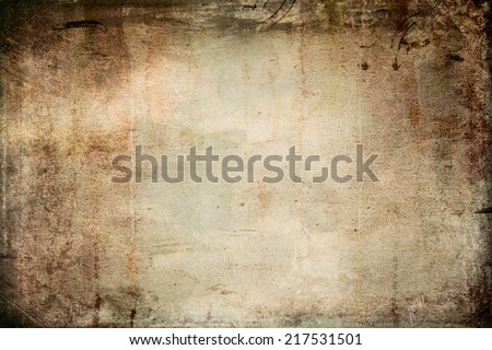 Grunge background with faded central area for copy space - stock photo