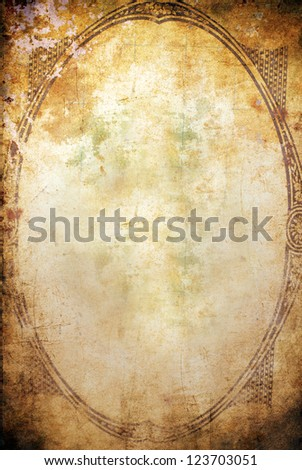 grunge background with frame and space for text or image - stock photo