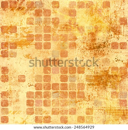 Grunge background with geometric shapes