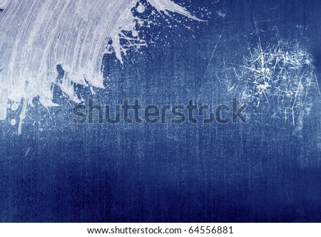 grunge background with paint splash - stock photo