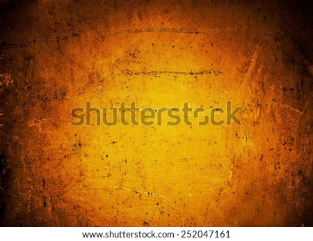 Grunge background with space for text and  image for your design. Orange Abstract Textured backdrop for wallpaper, ad, poster.  - stock photo