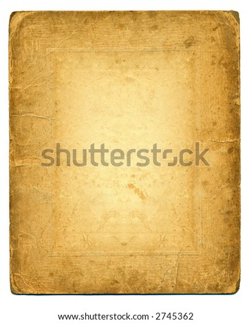 grunge background with space for text or image. aged photo card - back side. - stock photo