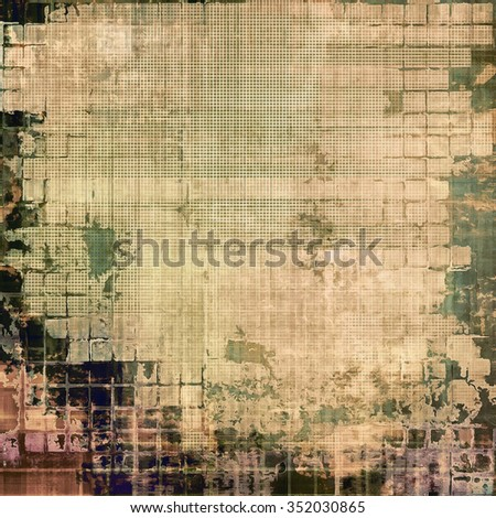 Grunge background with space for text or image. With different color patterns: yellow (beige); brown; green; gray - stock photo
