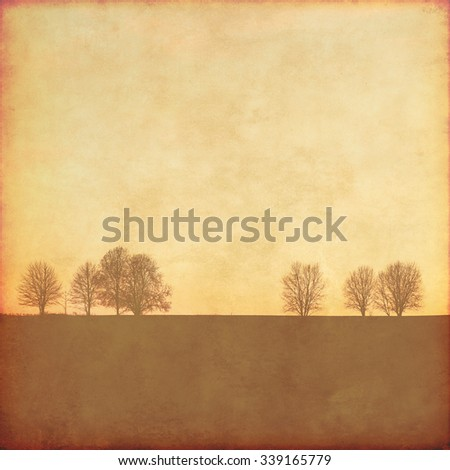 Grunge background with trees. - stock photo