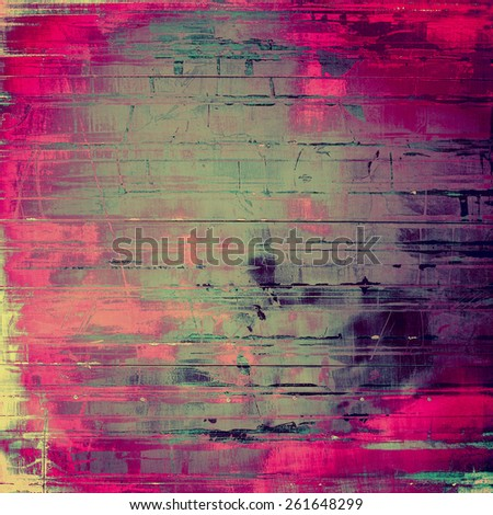 Grunge background with vintage and retro design elements. With different color patterns: gray; purple (violet); green; pink - stock photo