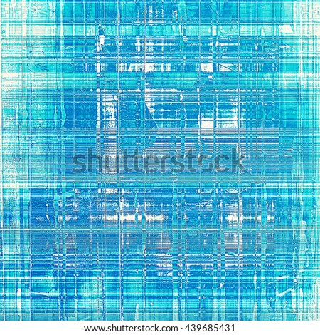 Grunge background with vintage style graphic elements, retro feeling composition and different color patterns: blue; cyan; white - stock photo
