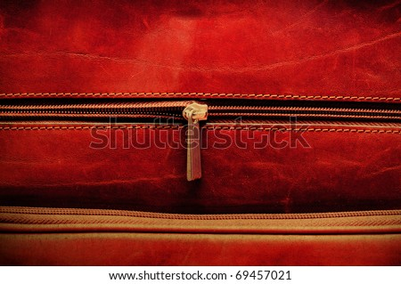 Grunge bag and zipper macro
