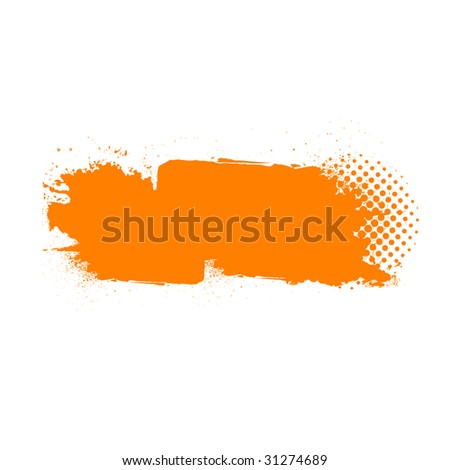 Grunge banner or background isolated on white for designer use - stock photo