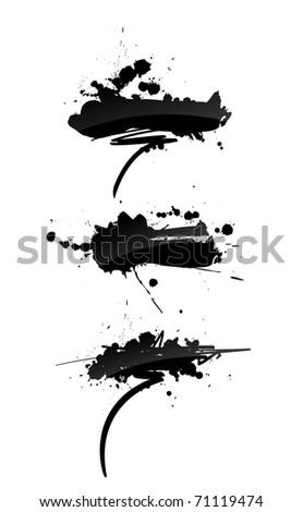 grunge banners - stock photo