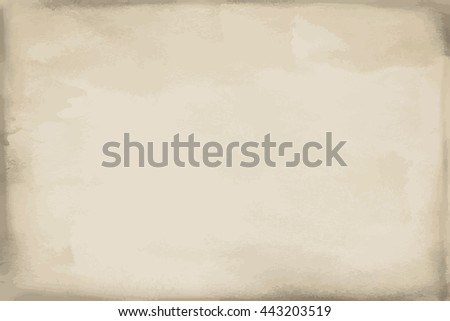 Grunge beige paper watercolor texture, background and surface. Illustration
