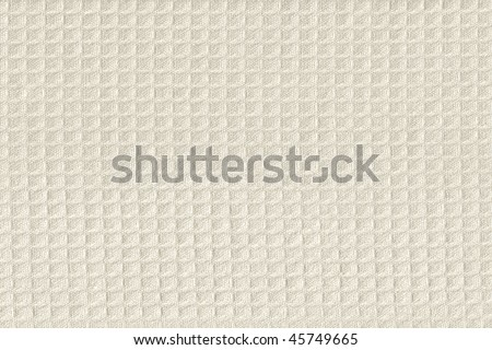 Grunge beige waffle weave fabric background - stock photo