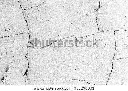 Grunge Black and White Distress Dirt Cracked Scratch Texture. Texture over any Object to Create Distressed Effect . Abstract Overlay. Wall Background
