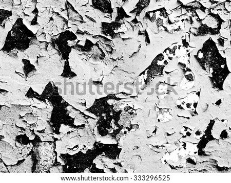 Grunge Black and White Distress Dirt Cracked Scratch Texture. Texture over any Object to Create Distressed Effect . Abstract Overlay. Wall Background  - stock photo