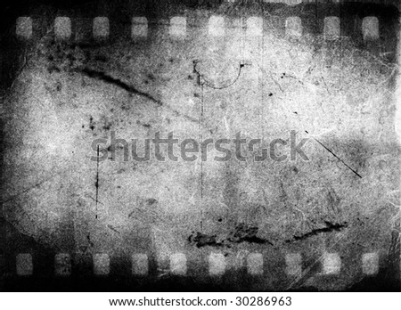 Grunge Black and White Film Frame - stock photo