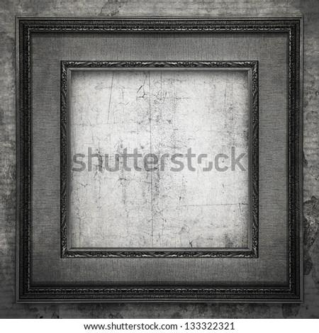 grunge black frame - stock photo
