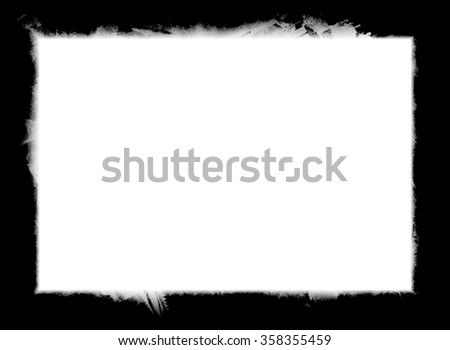grunge black frame - stock photo