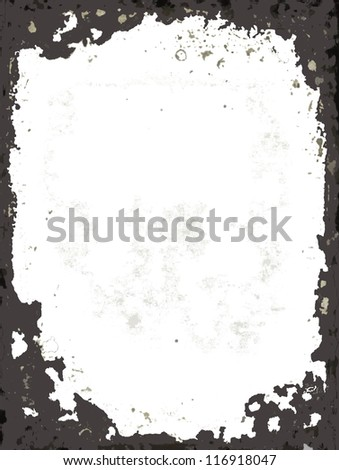 Grunge black gray abstract  frame