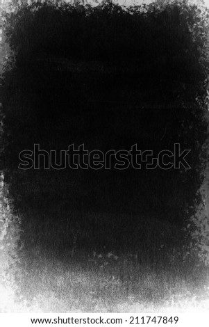 Grunge black texture like negative film - stock photo