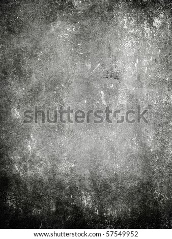 grunge black wall - stock photo