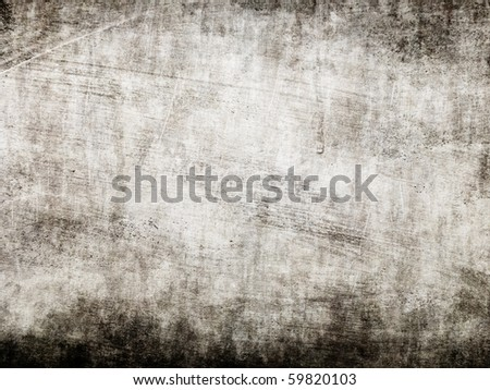 Grunge black wall - stock photo