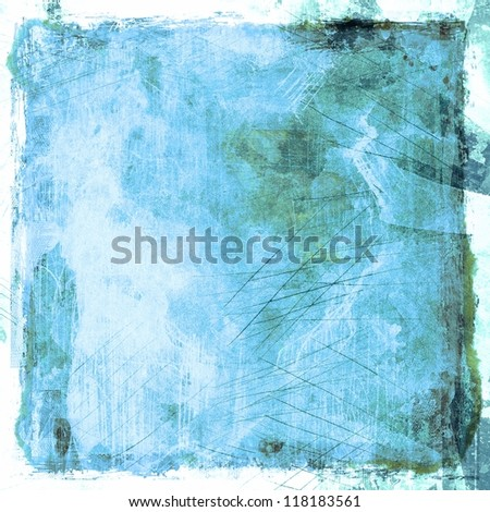 Grunge blue abstract background - stock photo